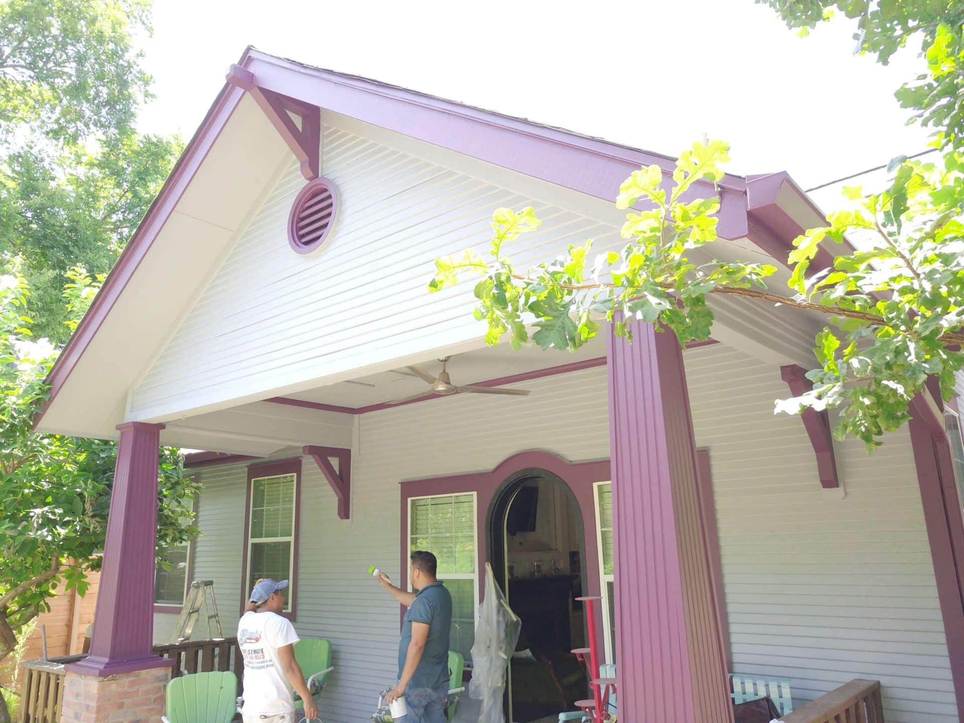 Residential painters painting in Austin, TX